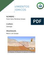 Geologia Movimientos Sismicos