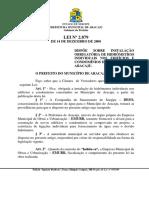LEI 2879-2000 - Dispoe Sobre Instalação Obrigatoria de Hidrômetros Individuais Nos Edificios