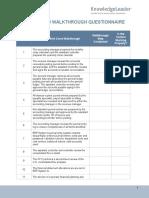 Month-End Walkthrough Diagnostic Questionnaire