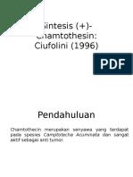Sintesis (+)-Chamtothesin