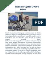 Keiichi Iwasaki Cycles 29000 Miles