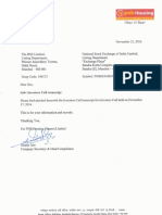 Investors Call transcript [Company Update]