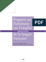 Rapport Au Parlement 2016