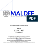 2016-2017 MALDEF Scholarship List