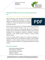 XVJornadas Científico Técnicas de La Facultad de Agronomía de LUZ 2016 Prorroga