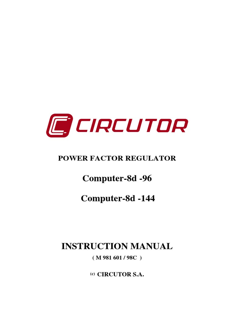 8d-14d pfc controller manual | relay | capacitor.