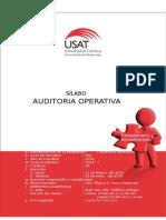 USAT. Silabo Auditoria Operativa. 2016 I