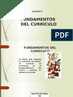 Lección 2 Fundamentos Del Currículo