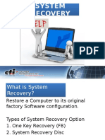 Recovery Procedure for Laptop