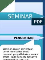 Seminar Dan Diskusi Panel