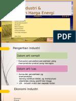 Ekonomi Industri & Penetapan Harga Energi