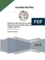 Protocolo de Kyoto de La Convención Marco de Las Naciones Unidas Sobre El Cambio Climático