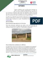 Informe Sobre Sifones, Saltos de Agua y Acueductos