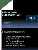 hemoglobindetermination