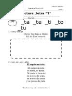 Lectura Letra T