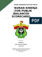 Makalah Kelompok 6 Pengukuran Kinerja Sektor Publik (Balanced Scorecard) - Bobby Frathama Dan Satria Fadli