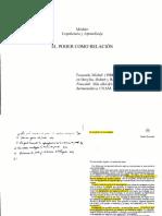 23-El Poder Como Relación - El Sujeto y El Poder. FOUCAULT MICHEL. (1)(Autosaved)