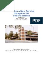 proposal - building a new parking garage for uf underclassmen
