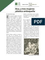 108. La Critica y Tres Mujeres en La Plastica Antioqueña