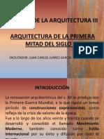 Arquitectura de La Primera Mitad Del Siglo Xx
