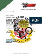 Ejemplo de certificación