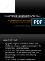Standardized Nursing Language (Snl)