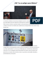 Trump No Es Un Peligro Para México