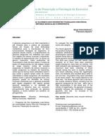Variação Da Curva Glicemica Nos Diferentes Trabalhos Com Pesos, Reforço Muscular e Hipertrofia