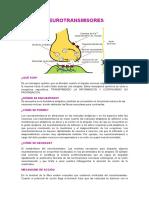 Neurotransmisores y Caso Clinico