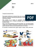 Conceptos de la Educación Física