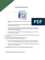Cara Mengecilkan Ukuran File Pada Microsoft Word