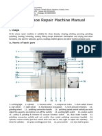 RC-01 Shoe Repair Machine Manual,Shoe Finisher Machine Instructions