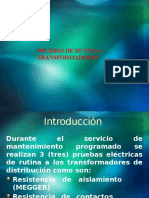 PRUEBAS DE RUTINA A TRANSFORMADORES