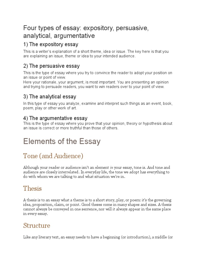 elements of of essay