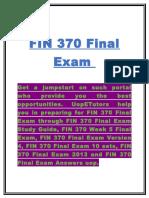 FIN 370 Final Exam | FIN 370 Final Exam Answers - UOP E Tutors