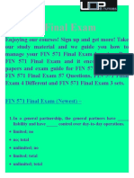UOP FIN 571 Final Exam Answers - FIN 571 Final Exam - UOP E Tutors