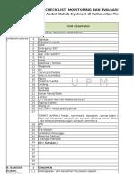 Checklist Monitoring Dan Evaluasi