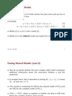 Multiple Regression - Nested Models