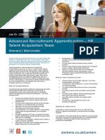 Advanced Recruitment Apprentice