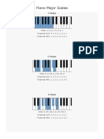 Piano Major and Minor Scales