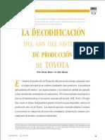 La Decodificación Del ADN Del Sistema de Producción de Toyota