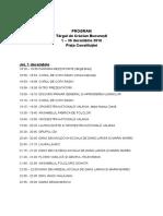 Program Târg de Craciun 2016