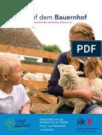 Prospekt Urlaub Auf Dem Bauernhof 2017