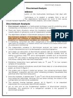 Discriminant Analysis (Student Notes)
