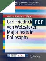 Carl Friedrich Von Weizsacke - Major Texts in Philosophy