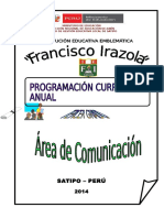 211349849 Programacion Curricular Anual Rode 2014