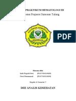 laporan praktikum pengamatan preparat sumsum tulang