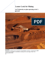 BHP Models Leaner Look for Mining