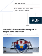 Australia's Dreamworld Theme Park to Reopen After Ride Deaths - BBC News