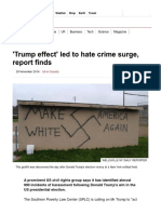 'Trump Effect' Led to Hate Crime Surge, Report Finds - BBC News